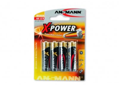 Piles Alcalines LR06 AA 1,5V - Blister de 4 Ansmann