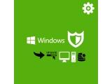 Installation avec mise à jour de Windows, sauvegarde et désinfection