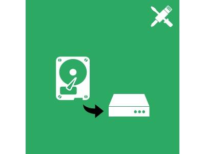 Installation du disque dur client dans un boitier