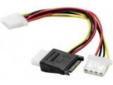 Câble en Y pour alimentation SATA vers 3 alimentations Molex