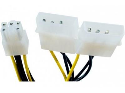 Adaptateur 4 points (molex) vers PCI-Express 6 points
