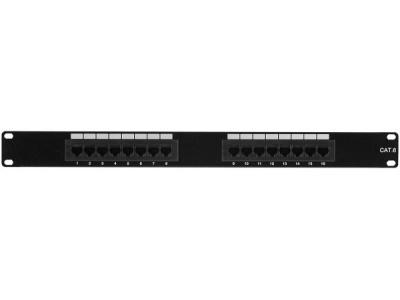 Panneau Categorie 6 équipé Hauteur 1U - 16 ports UTP