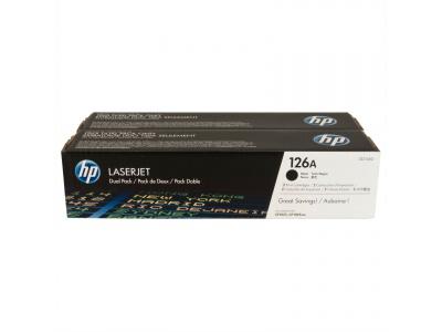 Pack de 2 cartouches d'impression noire 126A (toner HP CE310AD)