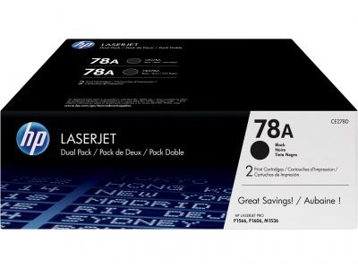 Pack de 2 cartouches d'impression noire LaserJet 78A (toner HP CE278AD)