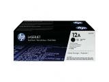 Pack de 2 cartouches d'impression noire LaserJet 12A (toner HP Q2612AD)