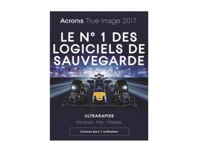 Logiciel Acronis True Image 2017 - 1 PC