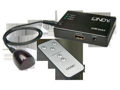 Switch HDMI Compact 3:1 avec télécommande, 3D