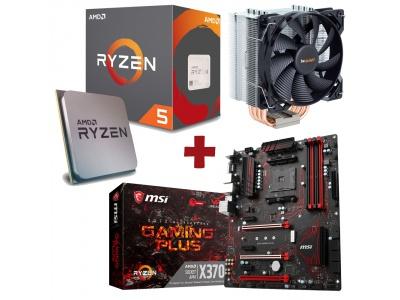 Kit Evolution AMD Ryzen 5 1600X + MSI X370 GAMING PLUS + BE QUIET PURE ROCK