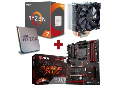 Kit Evolution AMD Ryzen 7 1700X + MSI X370 GAMING PLUS + BE QUIET PURE ROCK