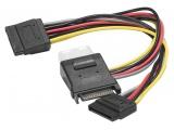 Cable en Y alimentation SATA vers 1 alim Molex + 2 alim SATA