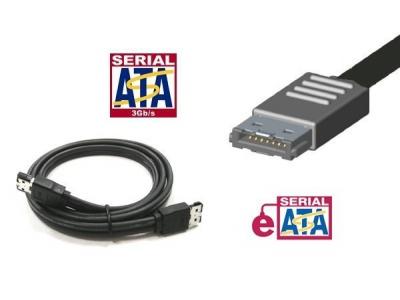 Cable eSATA blindé pour disque dur SATA externe - 0,50m
