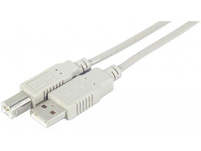 Cordon USB 2.0 type AB M/M  - 0,60m