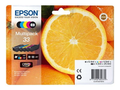 Cartouches d'impression jet d'encre Multipack 33