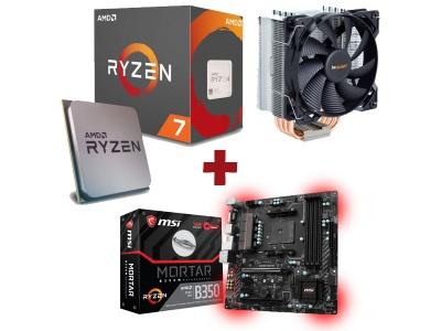 Kit Evolution AMD Ryzen 7 1700X + MSI B350M MORTAR + BE QUIET PURE ROCK