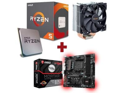 Kit Evolution AMD Ryzen 5 1600X + MSI B350M MORTAR + BE QUIET PURE ROCK