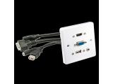 Prise murale VGA/HDMI/USB/Jack 3,5mm Stéréo