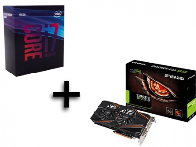 Kit Évolution Intel Core i7-9700K + Geforce GTX1070 - 8Go - GIGABYTE WindForce OC Rev2.0