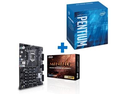 Kit Mining Intel Pentium G4500 + ASUS B250 MINING EXPERT