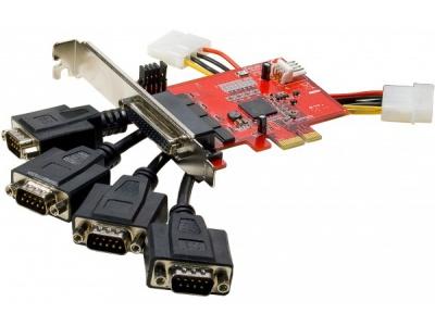 Carte pci-express 4 ports RS-232 DB9 5V Pin9