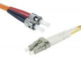 Cordon fibre optique ST/LC 50/125 - 3.00m