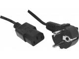 Cordon électrique secteur standard -noir 1.80m
