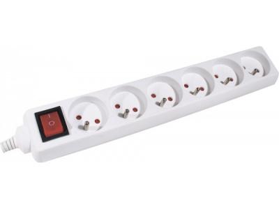 Dexlan Multi-prises électrique - 6 prises inter 1.50m