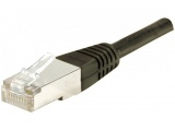 Cordon RJ45 patch S/FTP CAT 6 Noir - 2,00 m