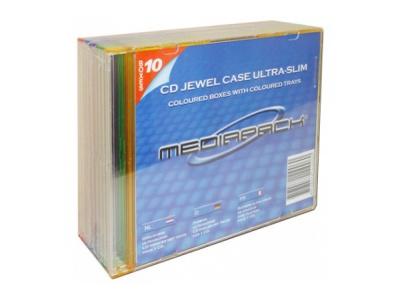 Boitier cd slim 1CD transparent pack 10