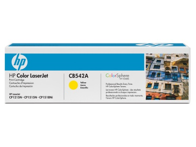 Cartouche d'impression jaune LaserJet 125A (toner HP CB542A)