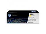 Cartouche d'impression jaune LaserJet 305A (toner HP CE412A)