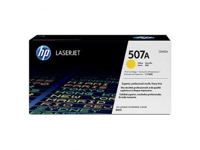 Cartouche d'impression jaune LaserJet 507A (toner HP CE402A)