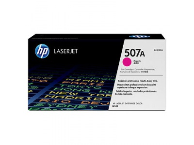 Cartouche d'impression magenta LaserJet 507A (toner HP CE403A)