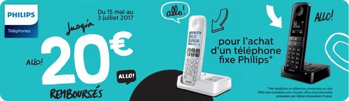 Philips : jusqu'à 20€ remboursés sur les DECT