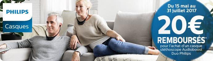 Philips : 20€ remboursés sur les Audioboost Duo