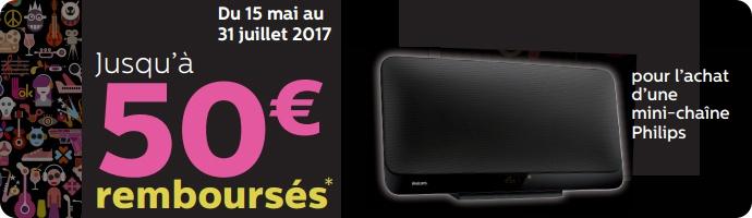 Philips : jusqu'à 50€ remboursés pour l'achat d'une mini-chaîne