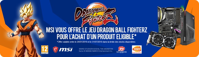 MSI : DRAGON BALL FighterZ offert