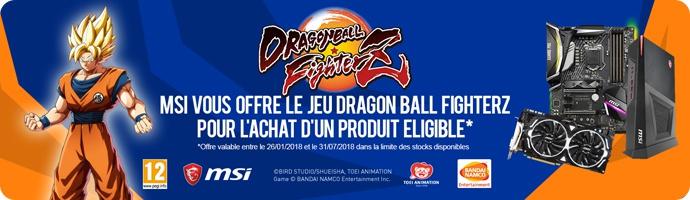 MSI : DRAGON BALL FighterZ offert