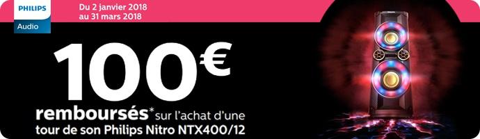 Philips : 100 € remboursés sur le Nitro NTX400