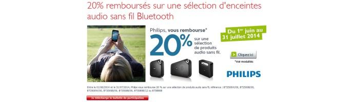 20% remboursés sur une sélection d'enceintes audio sans fil Bluetooth
