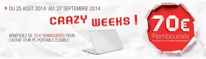 Crazy Weeks rentrée des classes avec Toshiba