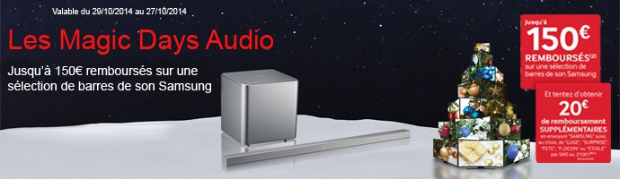 Samsung : les magic days Audio