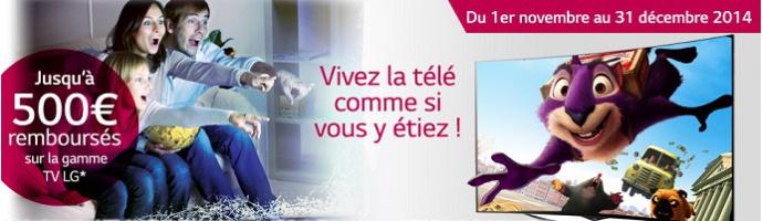 LG offres de Noël TV