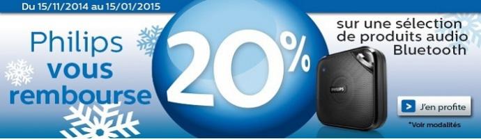 Philips vous rembourse 20% sur une sélection de produits Audio Bluetooth