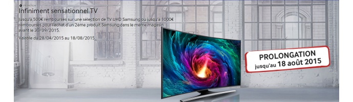 Samsung : Infiniment sensationnel TV