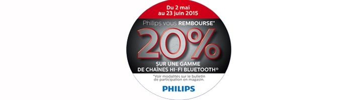Philips vous rembourse 20% sur une gamme de Chaînes HiFi Bluetooth