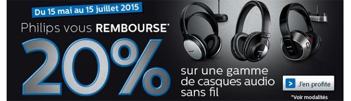 Philips vous rembourse 20% sur une gamme de Casques audio sans fil !